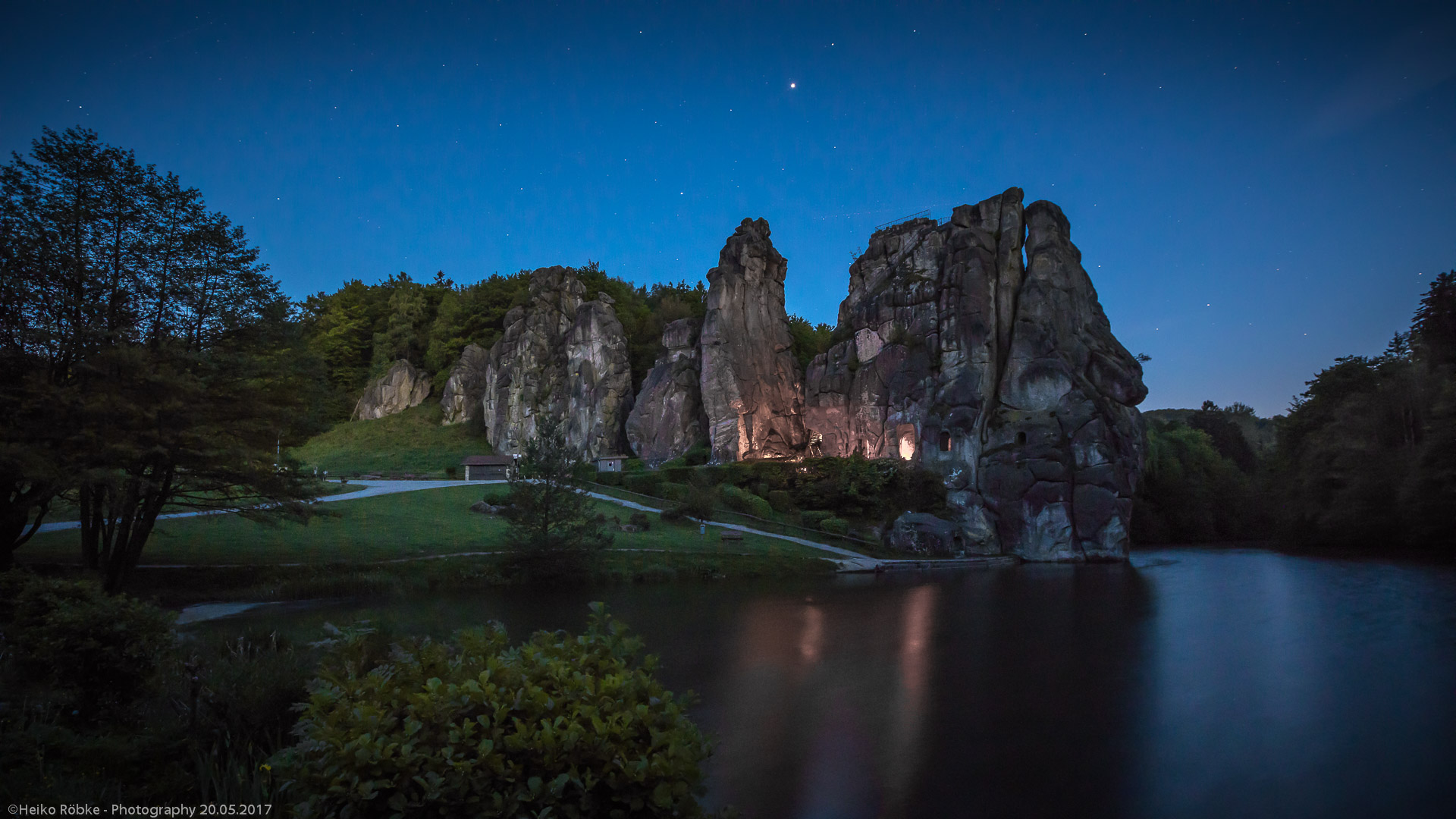 Nachts im Teutoburger Wald